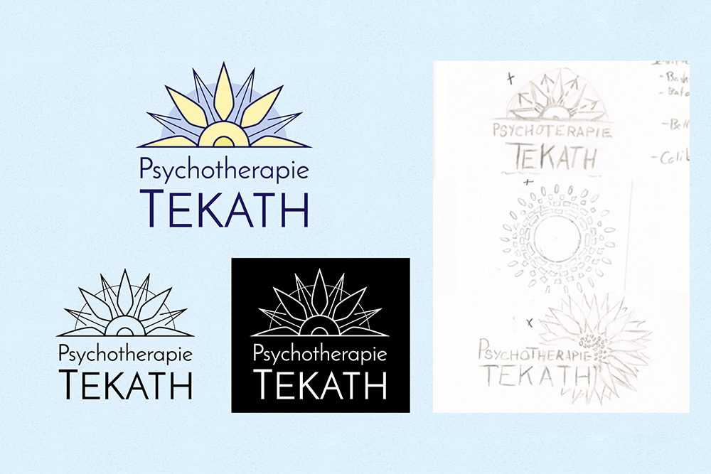 2 coporate design tekath logo sketches