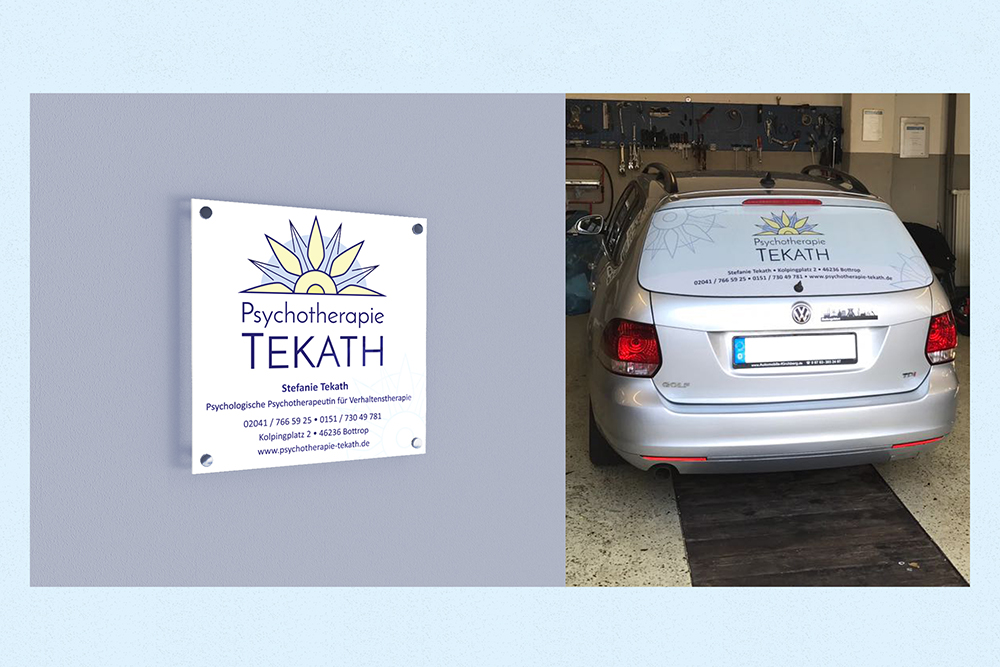 5 coporate design tekath sign car