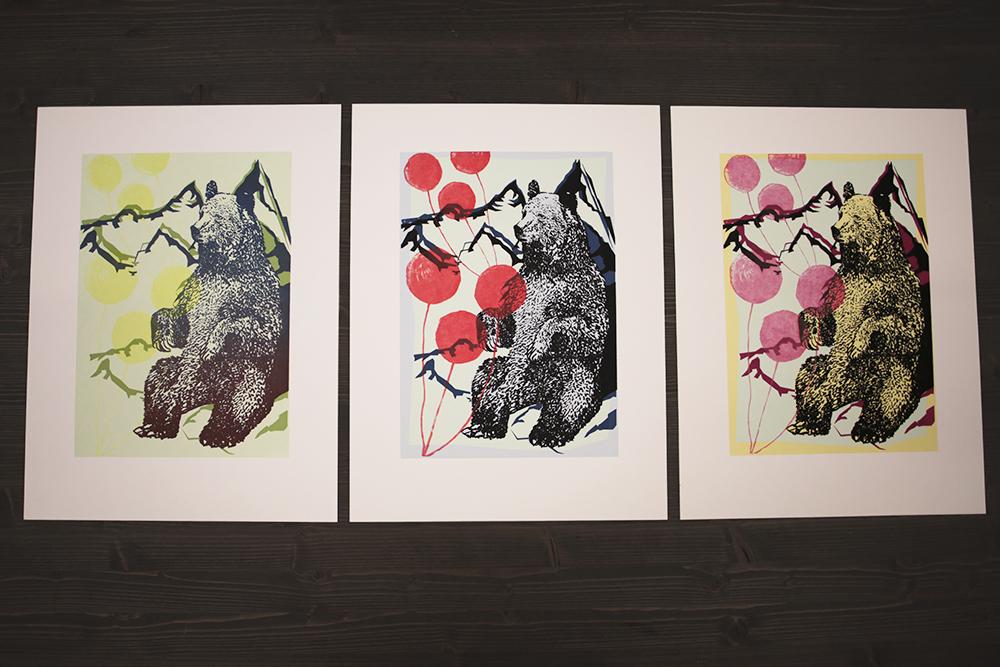2 screenprint grizzly